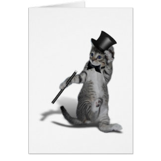 Tap Dancing Cat Card