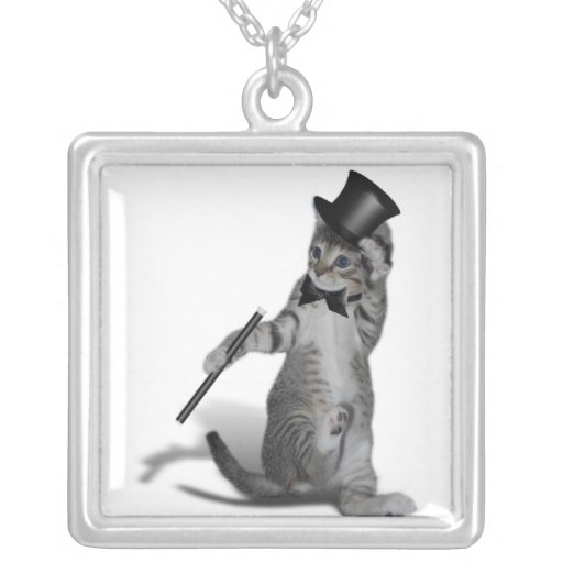 Tap Dancing Cat Personalized Necklace