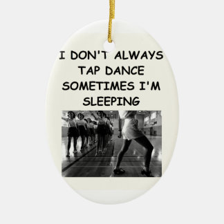 tap dancing ceramic ornament