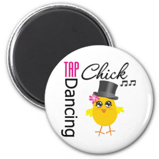Tap Dancing Chick 2 2 Inch Round Magnet