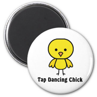 Tap Dancing Chick 2 Inch Round Magnet