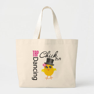 Tap Dancing Chick 2 Large Tote Bag