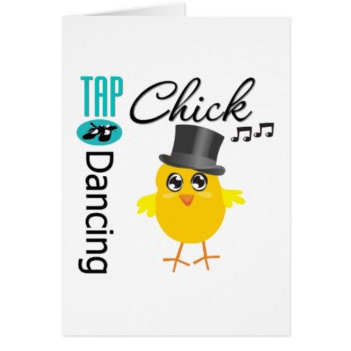 Tap Dancing Chick 5 Greeting Card