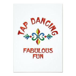 Tap Dancing Fabulous Fun 5x7 Paper Invitation Card