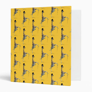 Tap Dancing Giraffe 3 Ring Binder