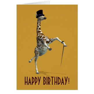 Tap Dancing Giraffe Card
