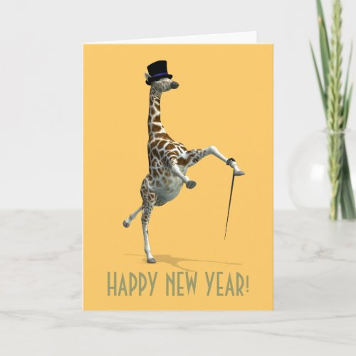 Tap Dancing Giraffe Holiday Card