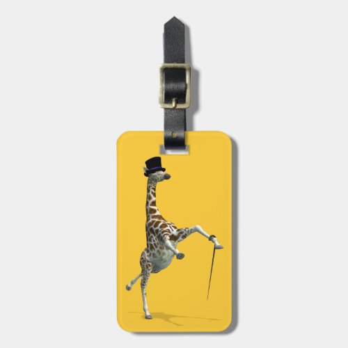 Tap Dancing Giraffe Luggage Tag