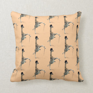 Tap Dancing Giraffe Pillow