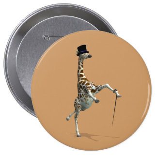 Tap Dancing Giraffe Pinback Button