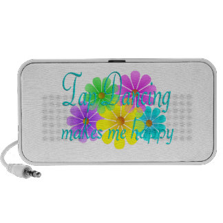 Tap Dancing Happiness Flowers Portable Speakers