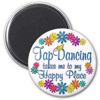Tap Dancing Happy Place Fridge Magnets