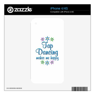 Tap Dancing Happy Skin For iPhone 4