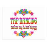 Tap Dancing Heart Happy Postcard