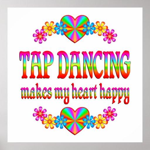 Tap Dancing Heart Happy Poster