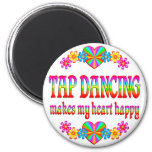 Tap Dancing Heart Happy Refrigerator Magnet