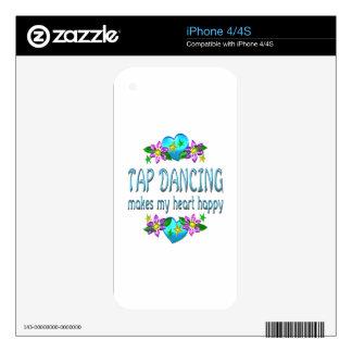 Tap Dancing Heart Happy iPhone 4 Decal