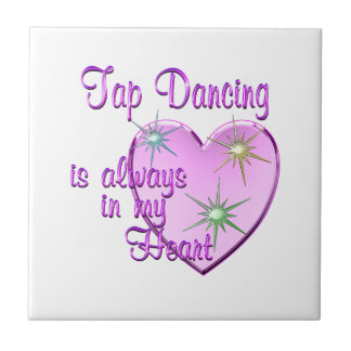Tap Dancing Heart Ceramic Tile