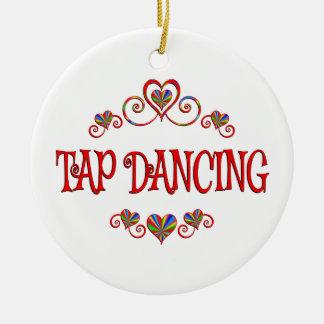 Tap Dancing Hearts Ceramic Ornament