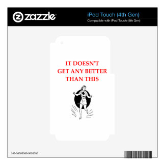 tap dancing iPod touch 4G skin