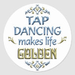 Tap Dancing is Golden Classic Round Sticker