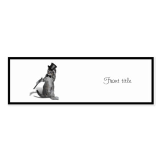 Tap Dancing Kitten Double-Sided Mini Business Cards (Pack Of 20)