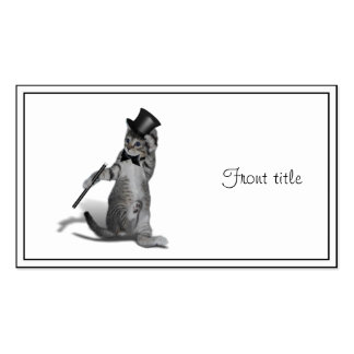 Tap Dancing Kitten Double-Sided Standard Business Cards (Pack Of 100)