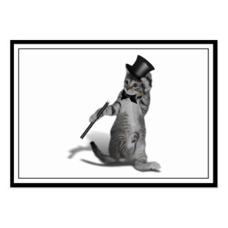 Tap Dancing Kitten Large Business Cards (Pack Of 100)
