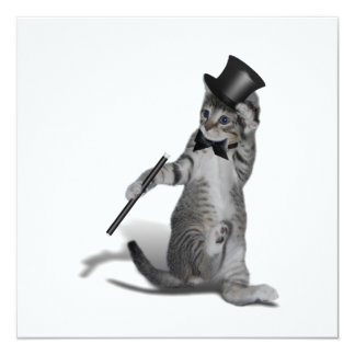 Tap Dancing Kitten Invitation
