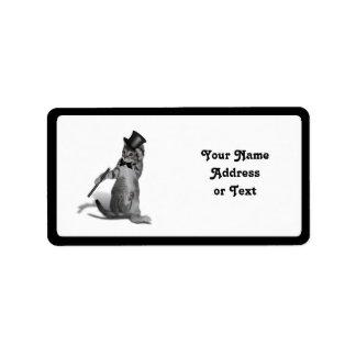 Tap Dancing Kitten Label