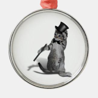 Tap Dancing Kitten Metal Ornament