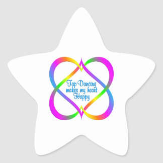 Tap Dancing Linking Hearts Star Sticker