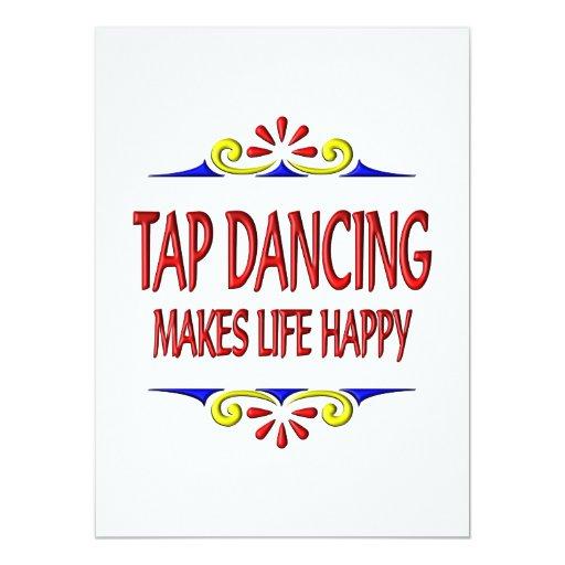 Tap Dancing Makes Life Happy 5.5x7.5 Paper Invitation Card