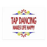 Tap Dancing Makes Life Happy Post Card