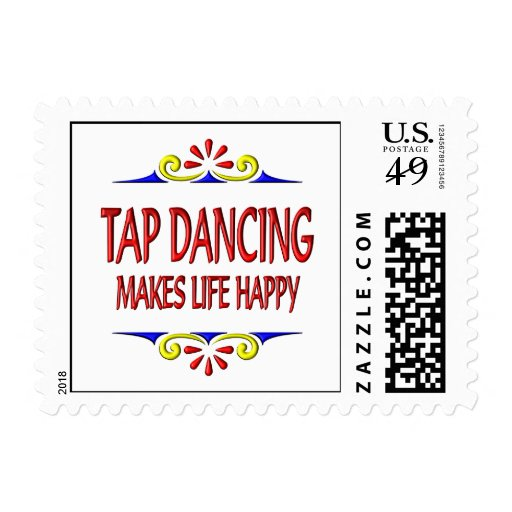 Tap Dancing Makes Life Happy Postage
