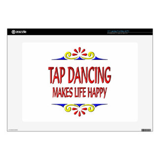 """Tap Dancing Makes Life Happy Skins For 15"""" Laptops"""