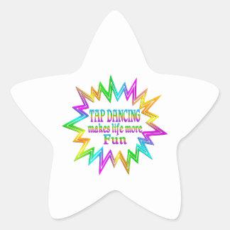 Tap Dancing More Fun Star Sticker