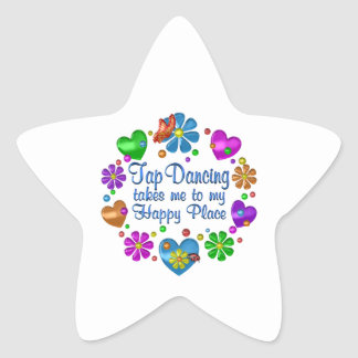 Tap Dancing My Happy Place Star Sticker