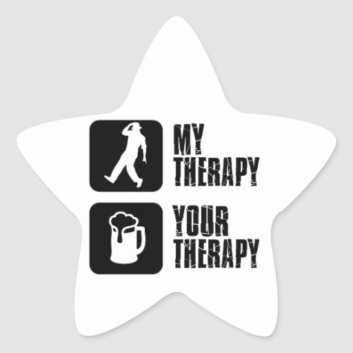 tap dancing my therapy star sticker