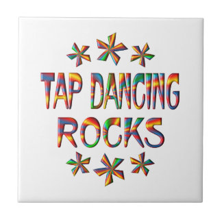 Tap Dancing Rocks Small Square Tile