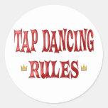 Tap Dancing Rules Classic Round Sticker