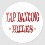 Tap Dancing Rules Round Stickers