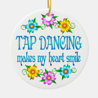 Tap Dancing Smiles Ceramic Ornament