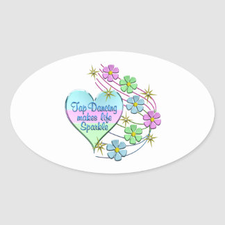 Tap Dancing Sparkles Oval Sticker