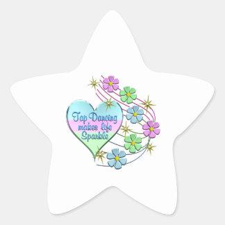 Tap Dancing Sparkles Star Sticker