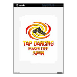 Tap Dancing Spins Decals For iPad 2