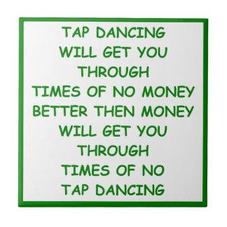 tap dancing small square tile
