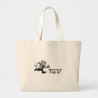 Tap it! jumbo tote bag