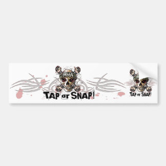 Tap or Snap MMA Skull Gear Bumper Sticker
