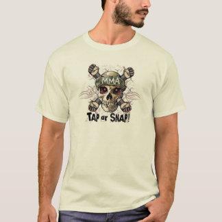 Tap or Snap MMA Skull Gear T-Shirt